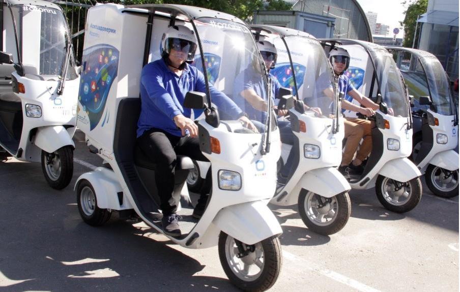 Курьеры OZON оседлают скутеры