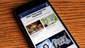 Facebook запускает заказ еды