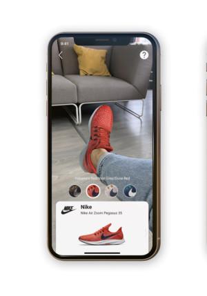 Виртуальные кроссовки на реальных ногах