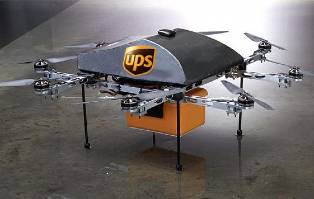 Логистическая компания UPS выводит в небо дронов