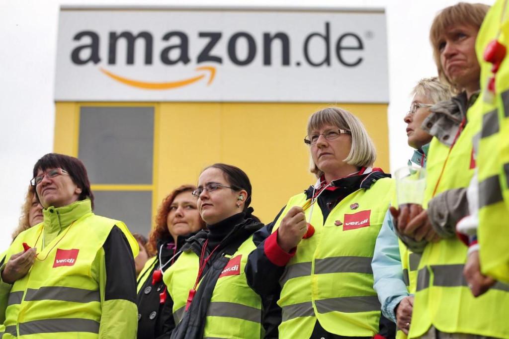 Немецкие профсоюзы грозят забастовками Amazon