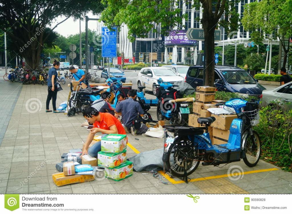 В Китае тоже бастуют курьеры