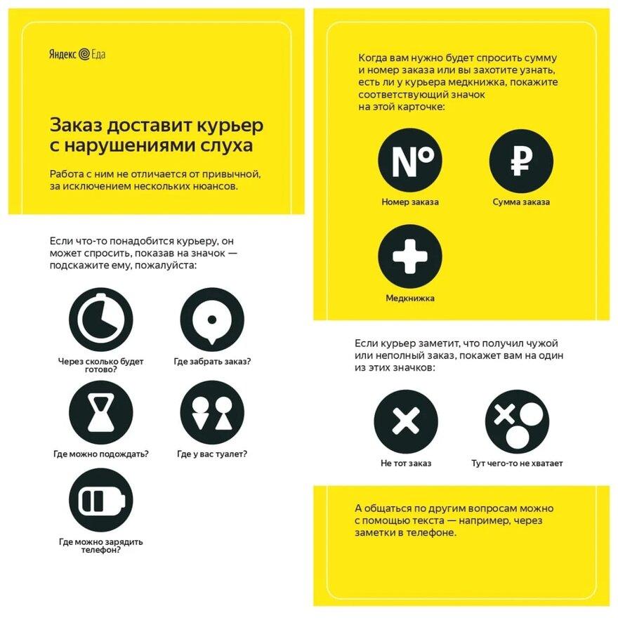 Яндекс глухие курьеры