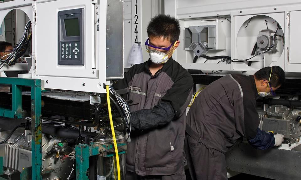 Производство контейнеров в Китае Циндао Maersk
