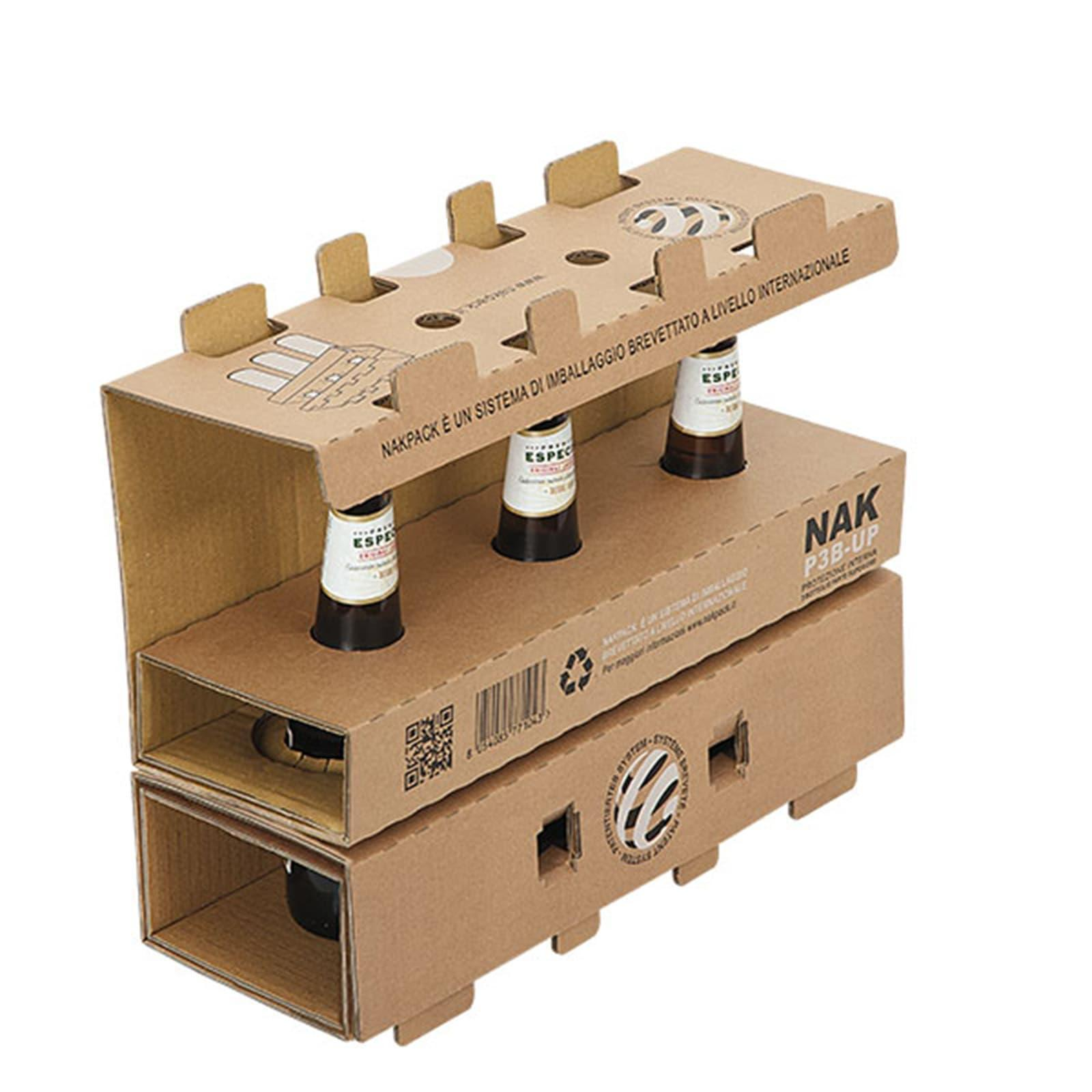 Картонная защитная упаковка для доставки пива от NIKPACK