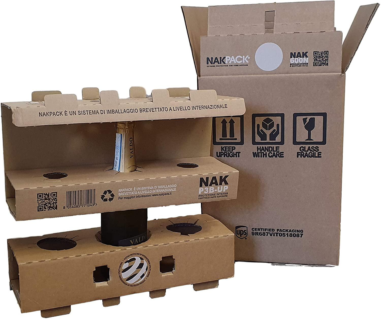 Картонная защитная упаковка для доставки вина от NIKPACK