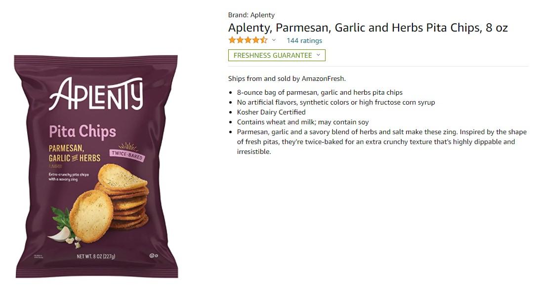 Aplenty чипсы делает Amazon