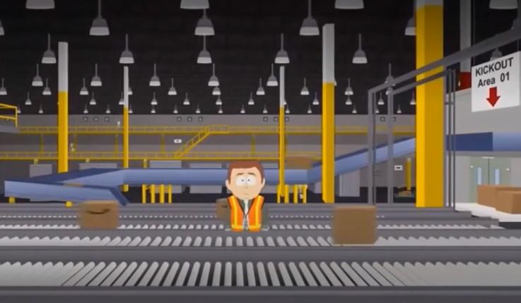 Я заложил душу в магазине компании! Злой и яркий мультик South Park про фулфилмент-центр Amazon (2 минуты 30 секунд – стоит посмотреть)